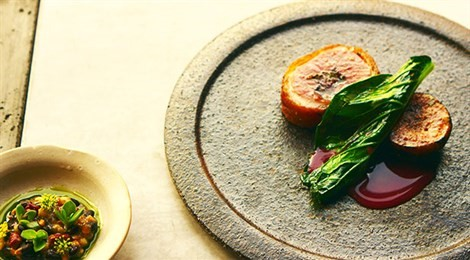 """Winner of Acqua Panna Award for for Connection in Gastronomy for the Pacific region with the signature dish """"Great Ocean Duck, And Its Seasonal Feed!"""""""