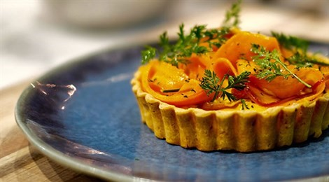 """Winner of the Social Responsibility Award for Pacific region with """"Experiencing Mushrooms in Flavours and Savoury Carrot Tart"""""""