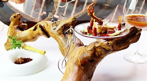 "Winner of S.Pellegrino Young Chef Award for Iberian and Mediterranean Region with the signature dish ""Quail and Wine."""