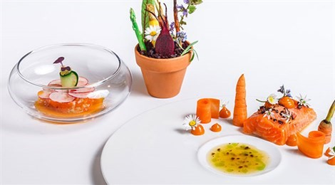 """Winner of S.Pellegrino Award for Social Responsibility with signature dish """"As A Child In Tirol"""""""