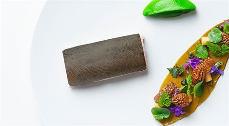 """Winner of S.Pellegrino Young Chef with the signature dish """"Rainbow Trout With Chervil, Forest Mushrooms And Wild Garlic"""""""
