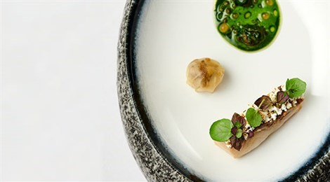 """Winner of Acqua Panna Award for Connection in Culture with signature dish """"Sturgeon And Snails"""""""