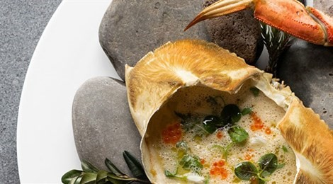 "Winner of Fine Dining Lovers Food for Thought Award with the signature dish: ""Dungeness Crab Chawanmushi"""