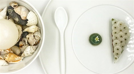"""Winner of Acqua Panna Award for Connection in Gastronomy with the signature dish: """"The World Is Your Oyster"""""""