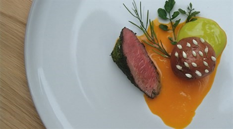 """Winner of S.Pellegrino Award for Social Responsibility with the signature dish: """"What She Found"""""""