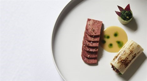 "Winner of Fine Dining Lovers Food for Thought Award with the signature dish:""Flavors And Textures Of Palm And Ox Tongue"""
